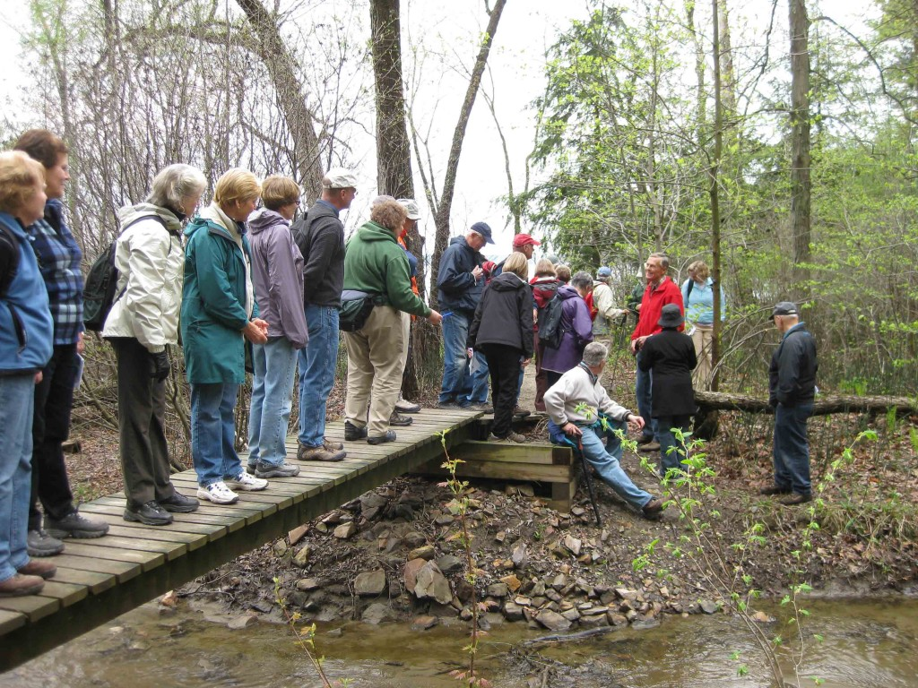Group hike at Niquette Bay State Park