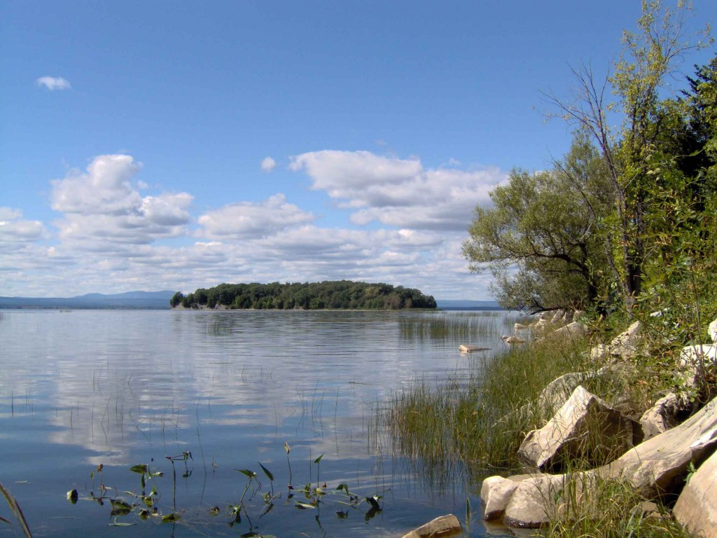 View of Law Island from the Causeway photo courtesy Lake Champlain Land Trust