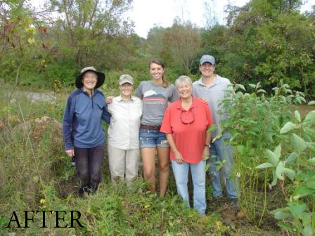 Upper La Platte River Natural Area Red Osier Dogwood Riverside Restoration Planting AFTER