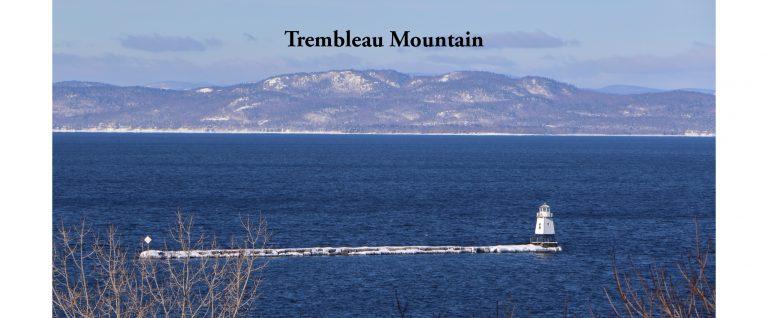 Trembleau Mountain in Winter from Burlington VT